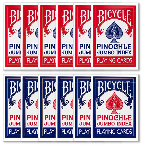 12 Decks of Bicycle Pinochle Jumbo