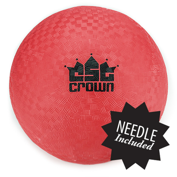 """Red Dodge Ball 8.5"""" with Needle"""