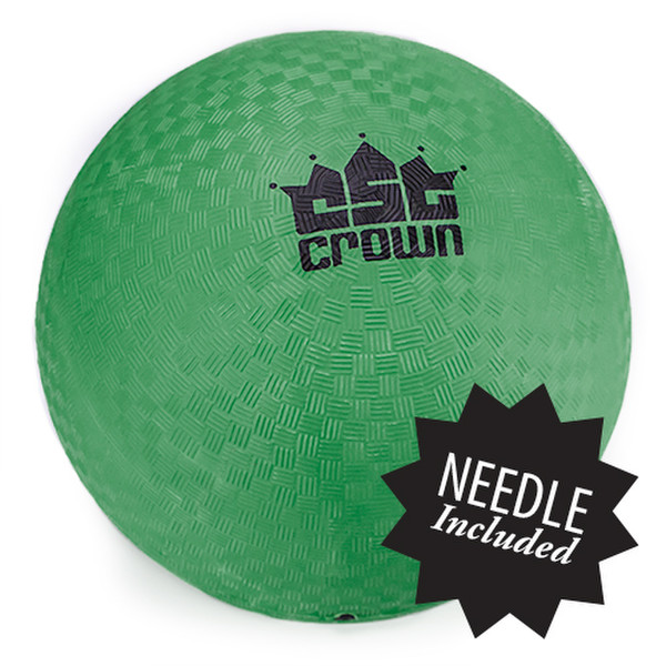 """Green Dodge Ball 8.5"""" with Needle"""