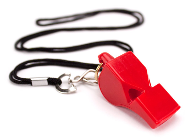 Ultra Loud High Pitch Red Plastic Whistle