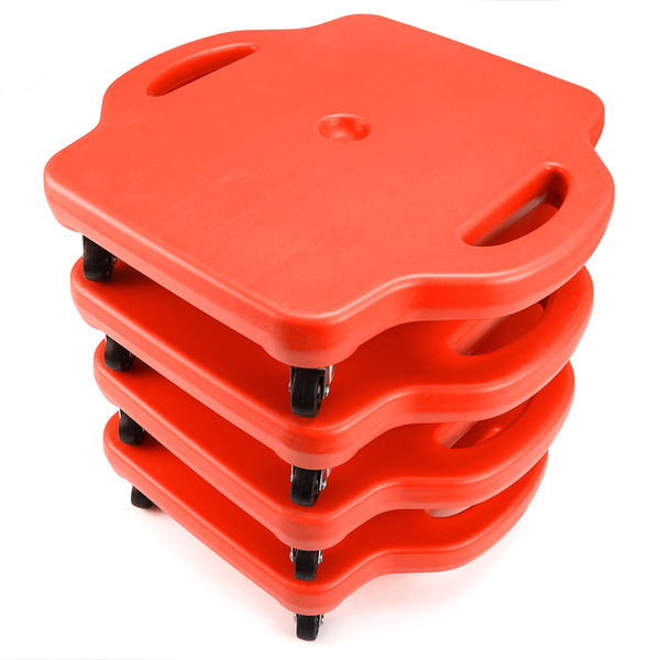 4pack 16in Gym Class Scooter Board w/Safety Handles - Red