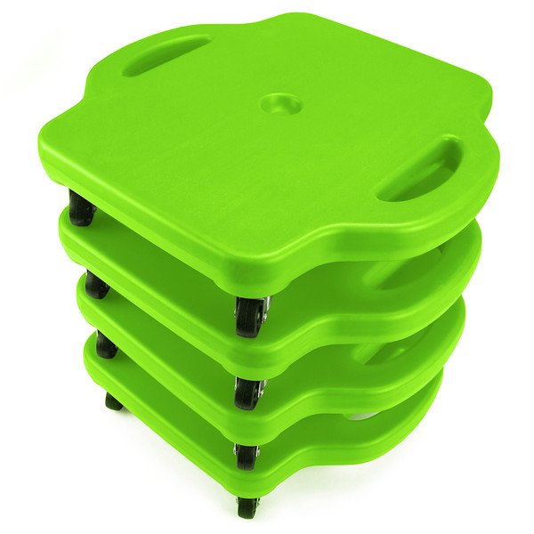 4pack 16in Gym Class Scooter Board w/Safety Handles - Green