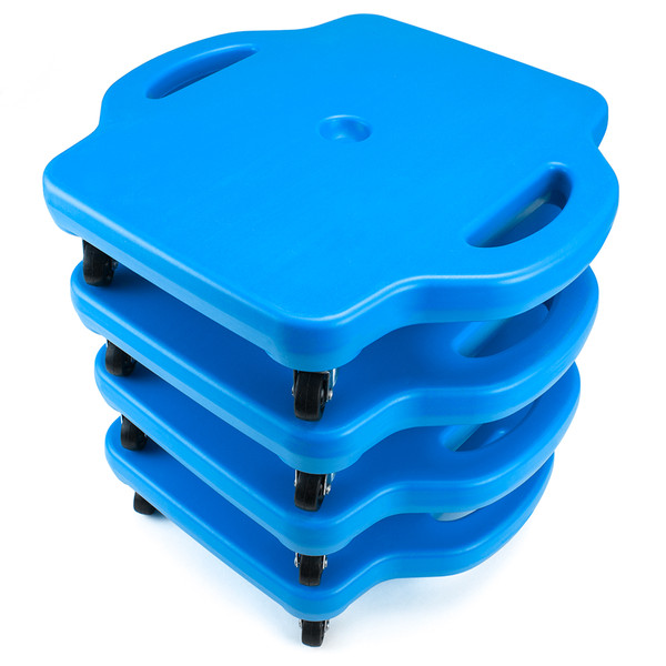 4pack 16in Gym Class Scooter Board w/Safety Handles - Blue