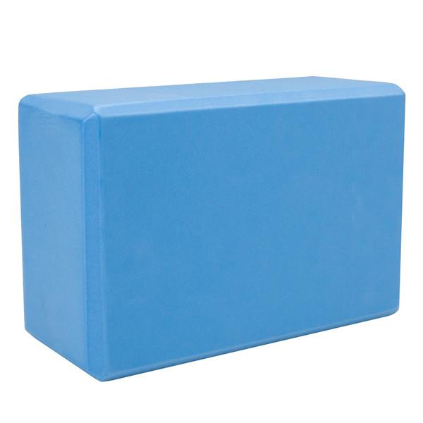 Large High Density Blue Foam Yoga Block 9 x 6 x 4