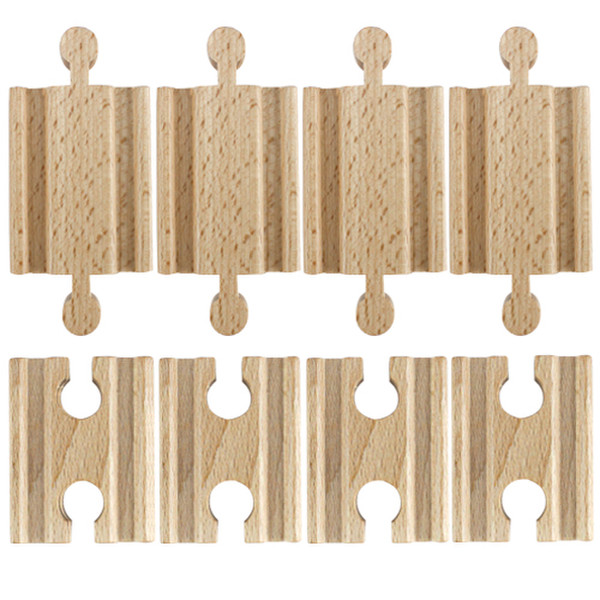 Set of 8 Male-Male Female-Female Wooden Train Track Adapters