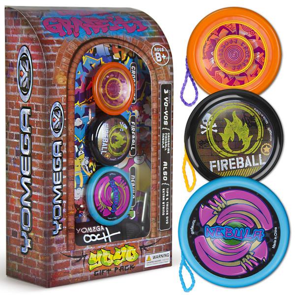3 Piece Yomega Urban Graffiti Yo-Yo Gift Set